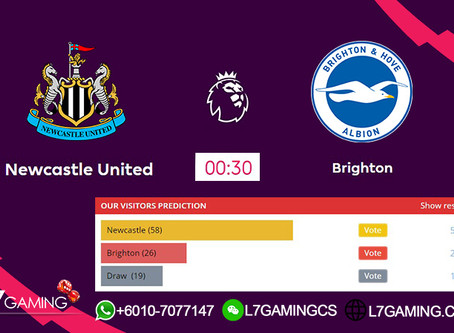 22 SEPTEMBER 2019 English Premier League : Newcastle vs Brighton