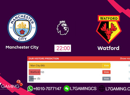 21 SEPTEMBER 2019 English Premier League : Man city vs Watford