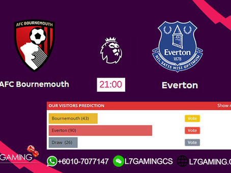 15 SEPTEMBER 2019  English Premier League : Bournemouth vs Everton