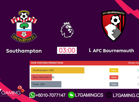 21 SEPTEMBER 2019 English Premier League : Southampton vs Bournemouth