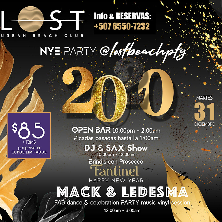 PTY's only New Year's Eve Beach Party !!!!