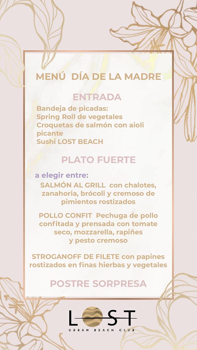 menu dia de la madre