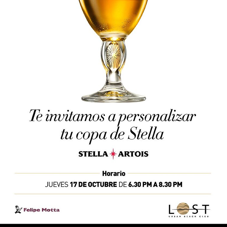 Get your own Stella Artois engraved glass !