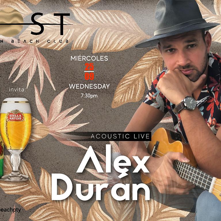 Stella Artois invites you to a great show:ALEX DURÁN Acoustic Live