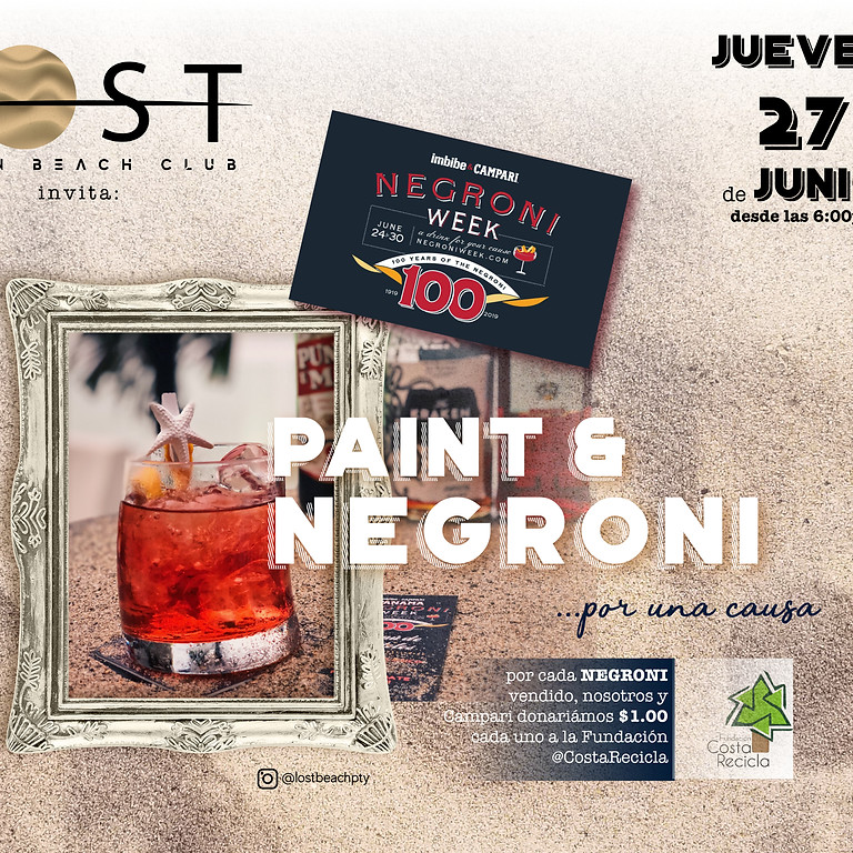 """NEGRONI WEEK """"Paint & Negroni.... for a cause !"""""""