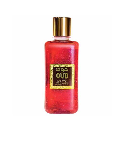 FLOWERS WITH OUD SHOWER GEL 10OZ 300ML