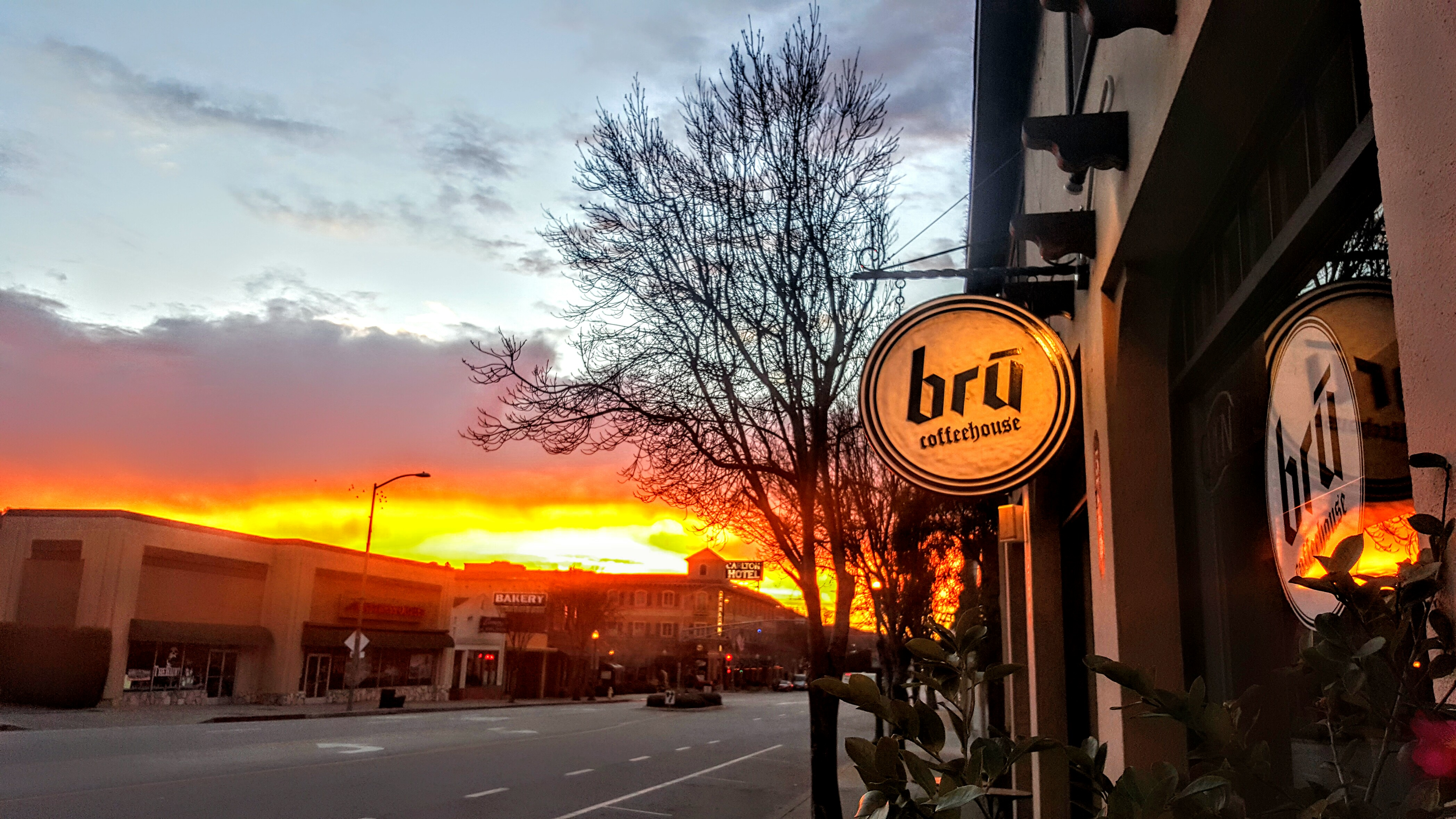 Bru Fire sunrise