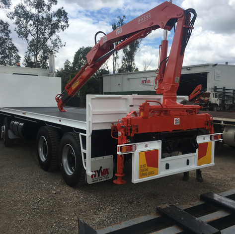 rebuilt FASSI F80-22 and body an 8x4 volvo