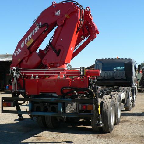 32 metre tonne crane rearmounted on twin steer truck