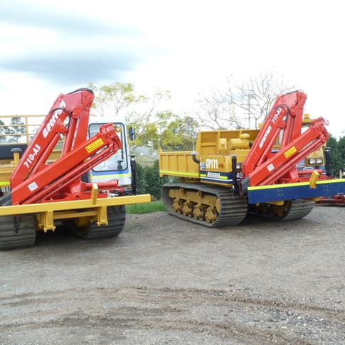 2 x 10 metre tonne ferraris on track carriers