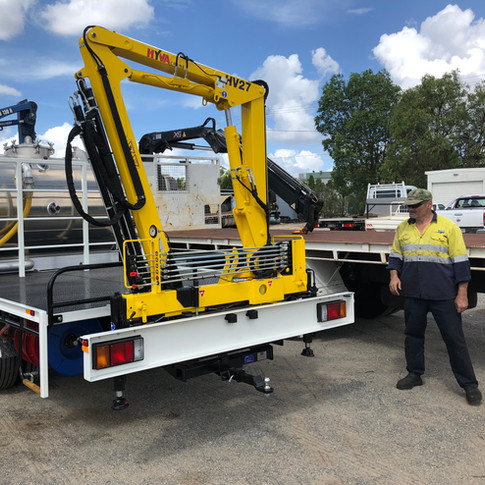the perfect crane for demountable toilets