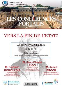 Conférence Portalis | Avenir de l'Etat