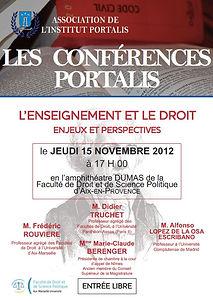 Conférence Portalis | Enseignement du droit