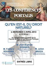 Conférence Portalis | Droit naturel