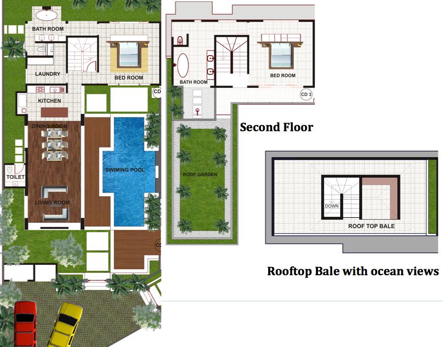 Pantai Indah Villas Bali Holiday rental – Holiday House Floor Plans