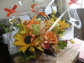 嫁さんの誕生日:花束