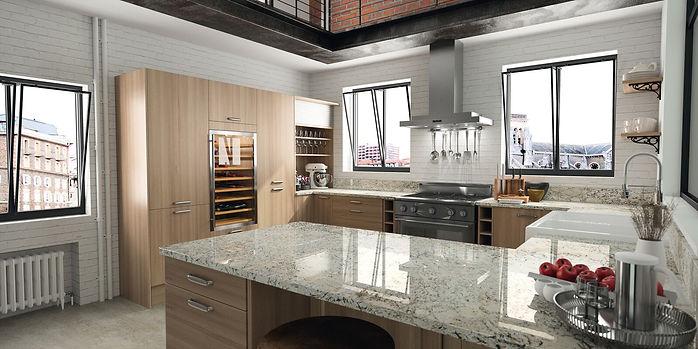 Granite worktops fabricated locally by S