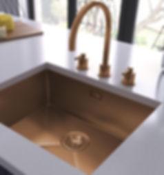 Copper sink, Somerville kitchens Jersey.