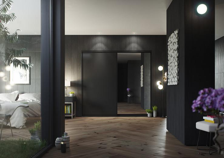 HPP Lucine - Black - Black Acrylic & Mir
