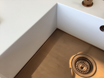 Axix sink with Copper base, from Somervi
