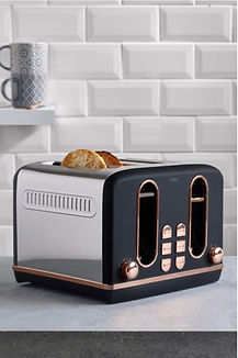Copper and black Mixed metals toaster, s