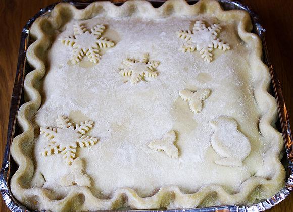 Festive Chicken & Leek Family Pie