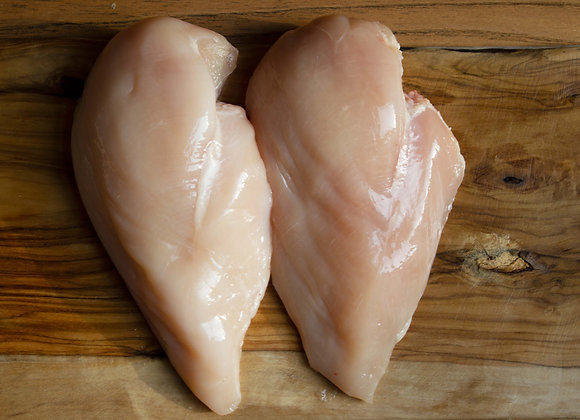 Chicken breasts boned and skinned