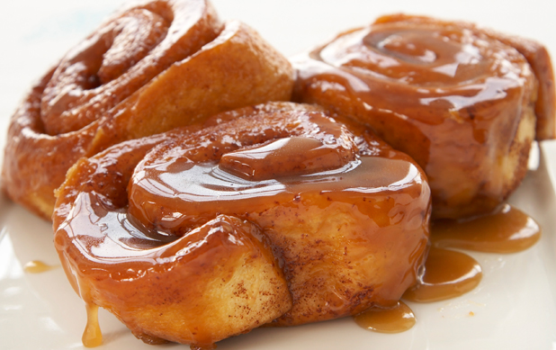 Hot Carmel Sticky Buns...