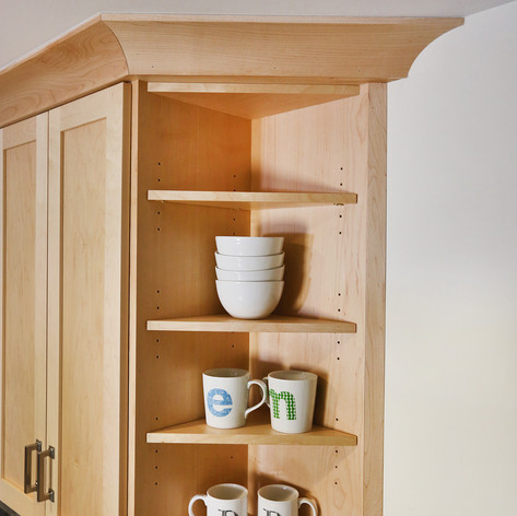 Maple Kitchen open shelf