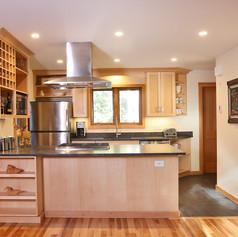 Maple Kitchen LR view