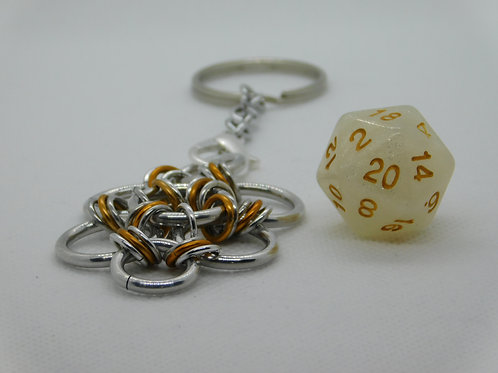 Shimmer White with Gold Inlay