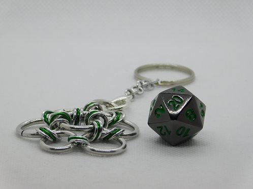 Gunmetal with Green