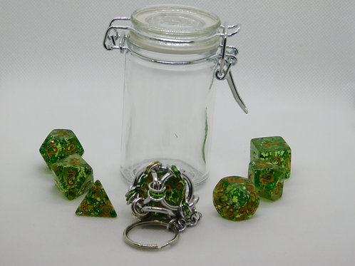 Translucent Green with Foil Flakes Resin