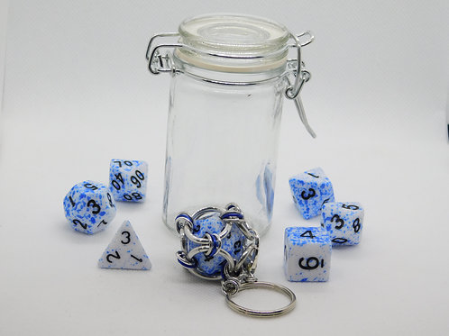 Blue Splatter Acrylic