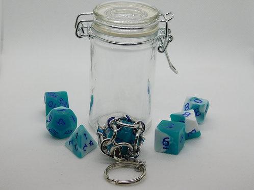 Ice Blue & White Acrylic