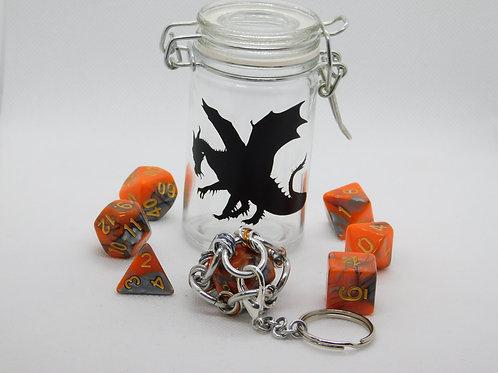 Orange & Gray Acrylic (with Dragon Decal)