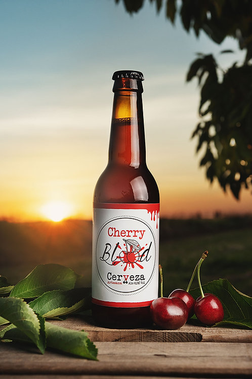 "Pack/ Caixa Cervesa ""Cherry Blood"""