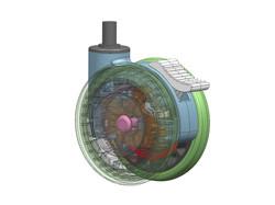四吋獨輪-3D圖