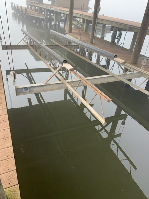 OUTDATED BOAT LIFT