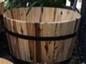 Planter, Large Acacia Barrel