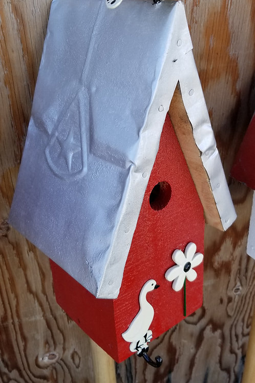 Birdhouse, White Butterfly