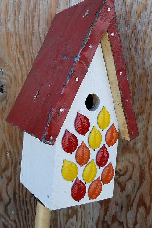 Birdhouse, Autumn Leaves