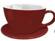 """Planter, 7"""" Coffee Cup Red"""
