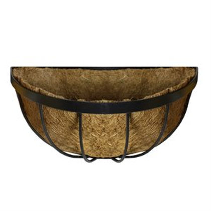"""Wall Basket, 18"""" Deluxe with Cocoa Liner"""