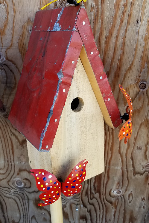 Birdhouse, Yellow Butterfly