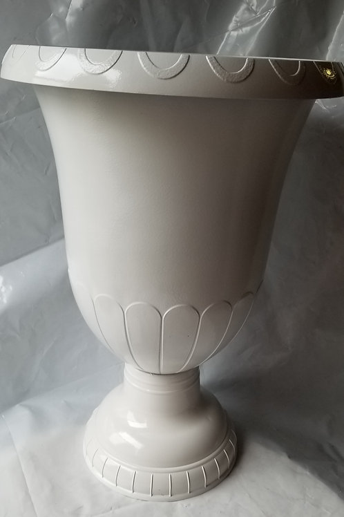 "Urn, 15.5"" Gloss White"