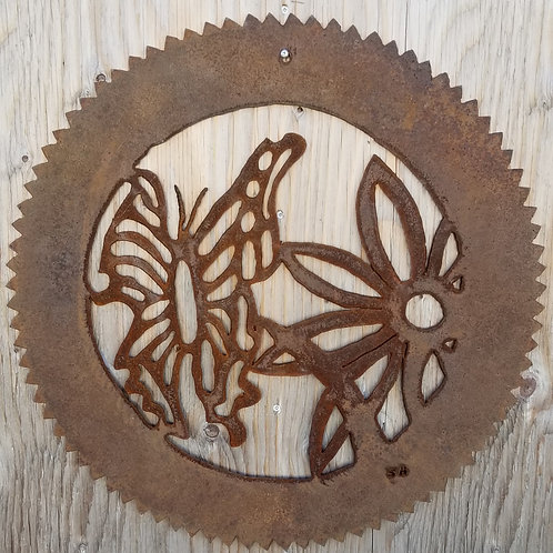 Saw Blade Wall Hanging, Butterfly