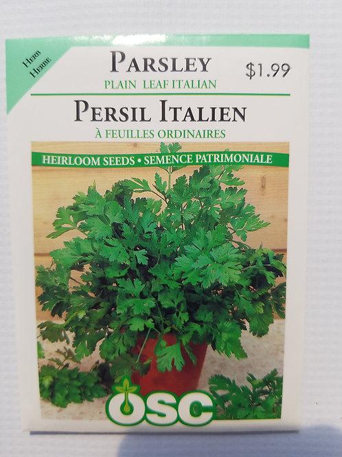 Parsley, Plain Italian Leaf