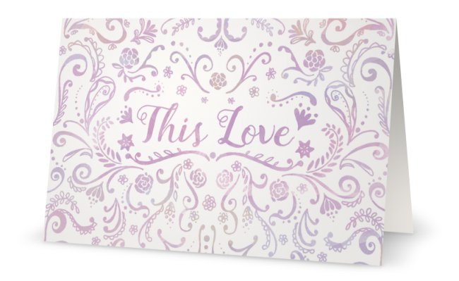 This Love - Watercolor Card