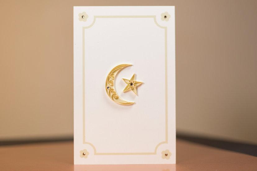 Sun & Moon - 5D Swarovski® Quilled Card